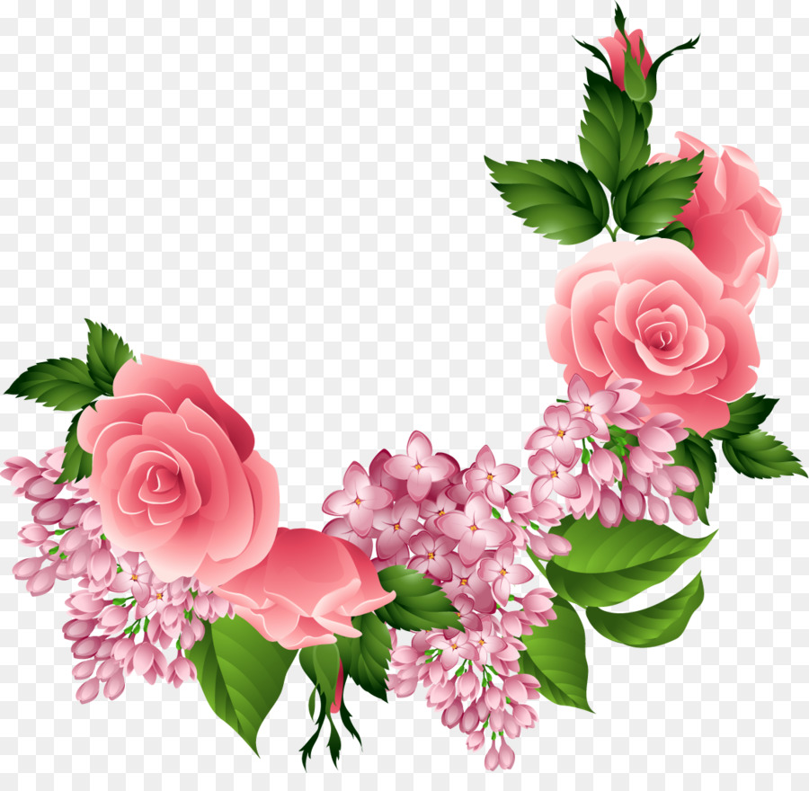 Flowers Background Free png download.