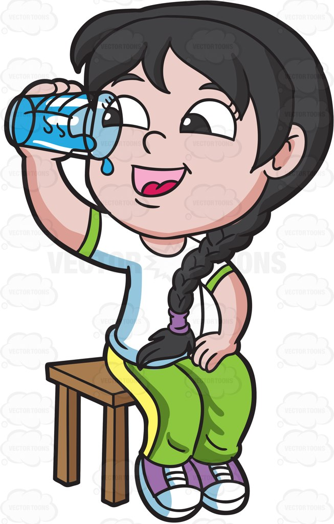 1226 Drinking Water free clipart.