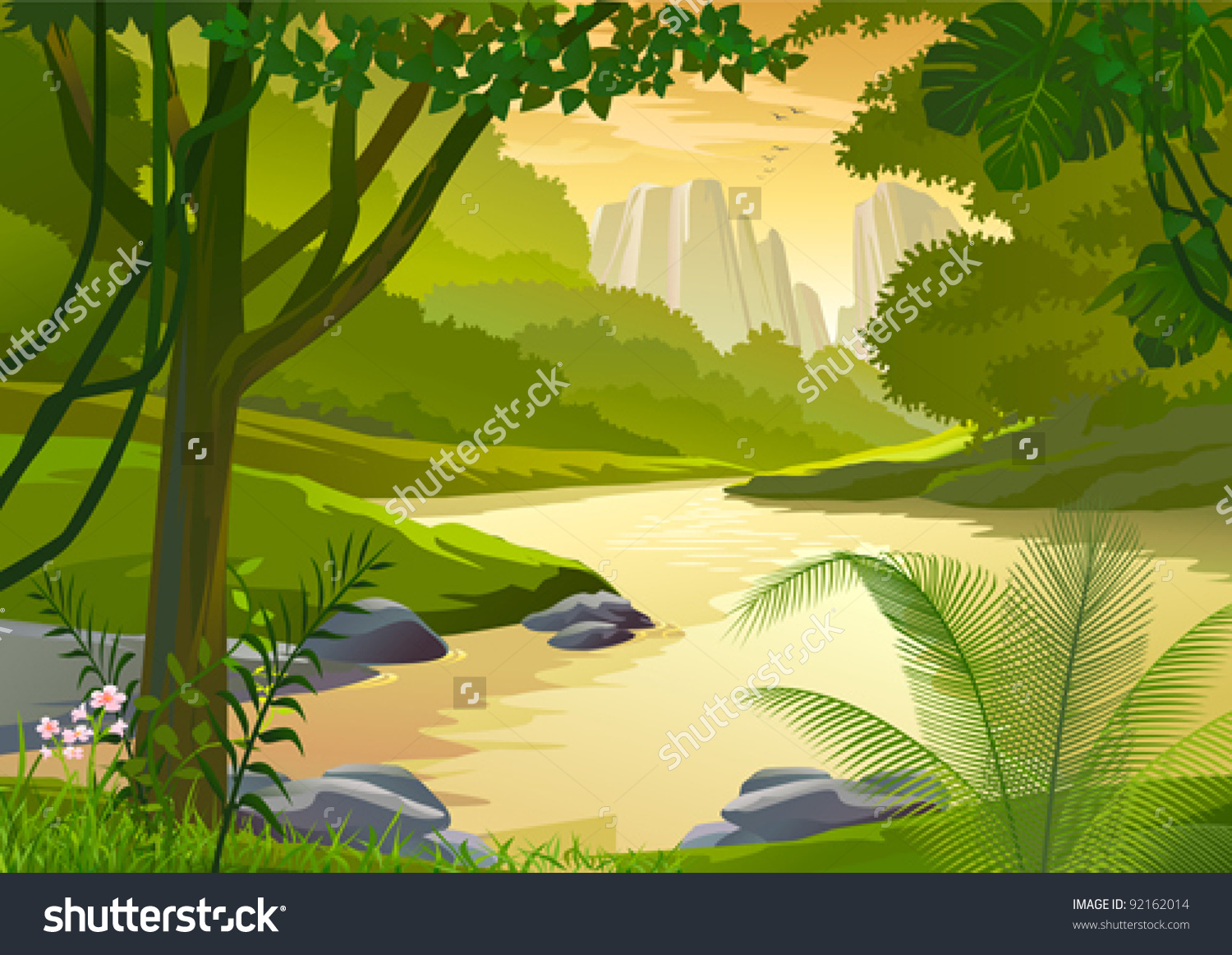 Water Stream Clip Art.
