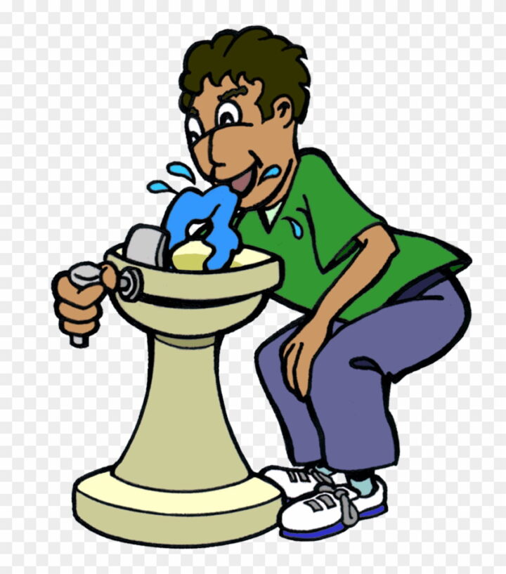 Drinking Water Fountain Clipart Jpg Library Drinking.
