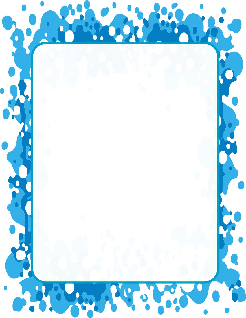 Blue Pattern Frame clipart.