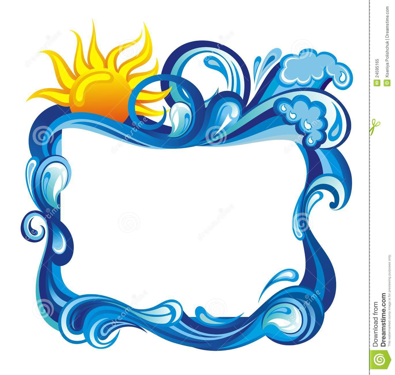 Water Frames Clipart.