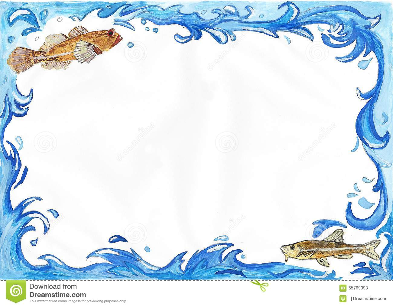 Water frames clipart clipground for Fishing picture frame