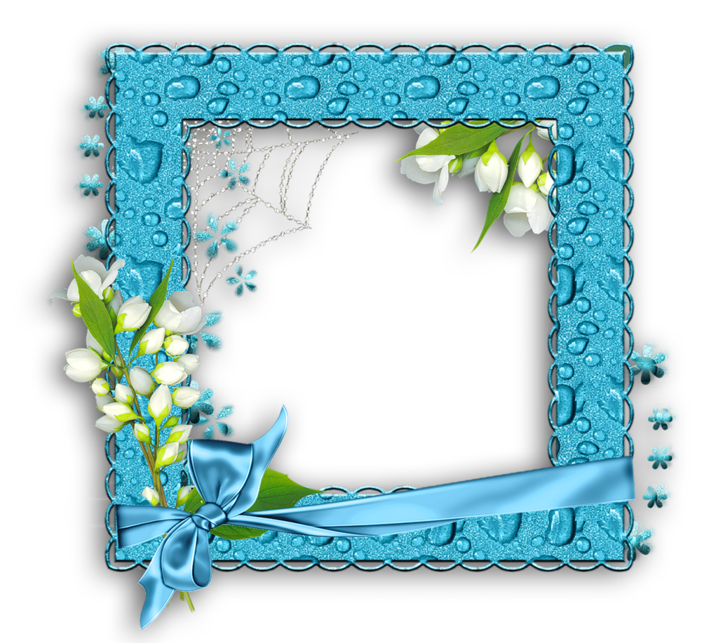 Blue Water PNG Photo Frame.