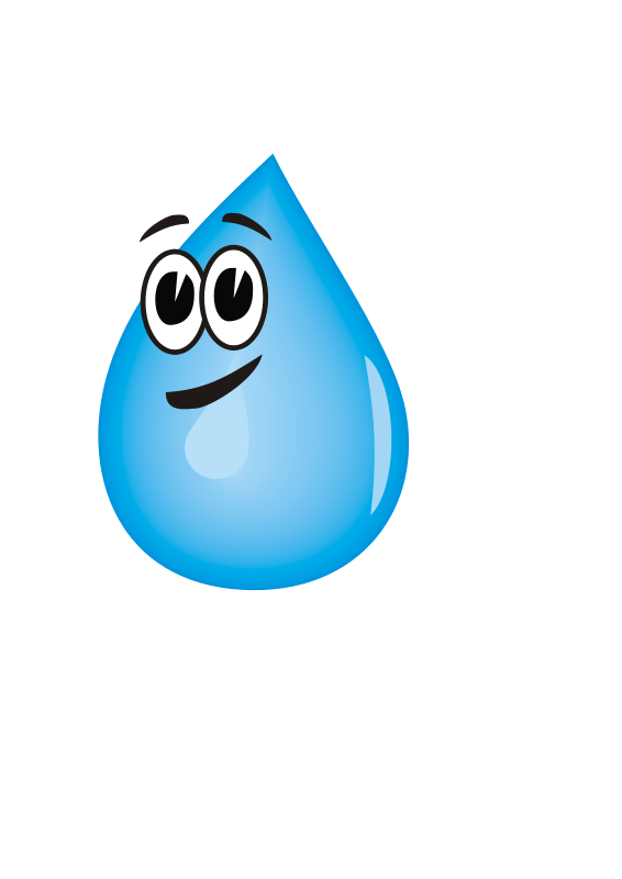 Free Clipart: Water droplet.