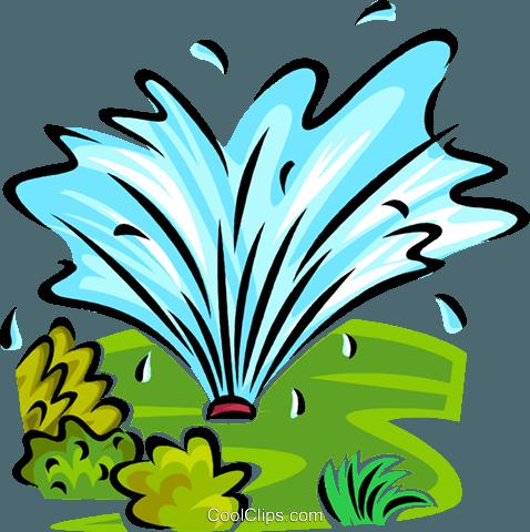 water sprinkler Royalty Free Vector Clip Art illustration.