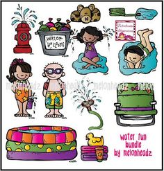 Water games clipart images.