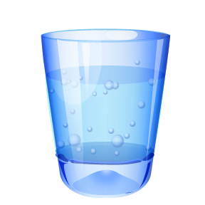 Water glass clipart.