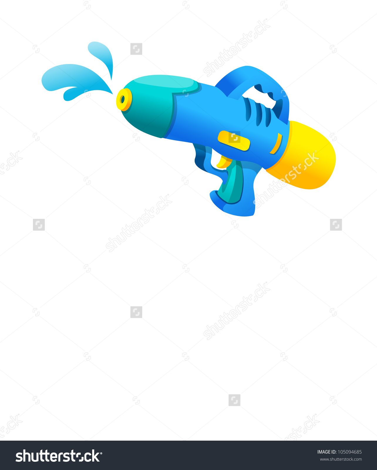 Vector Icon Water Gun Stock Vector 105094685.