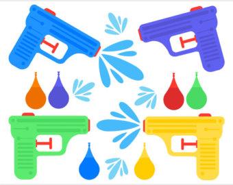 Water gun clipart #20