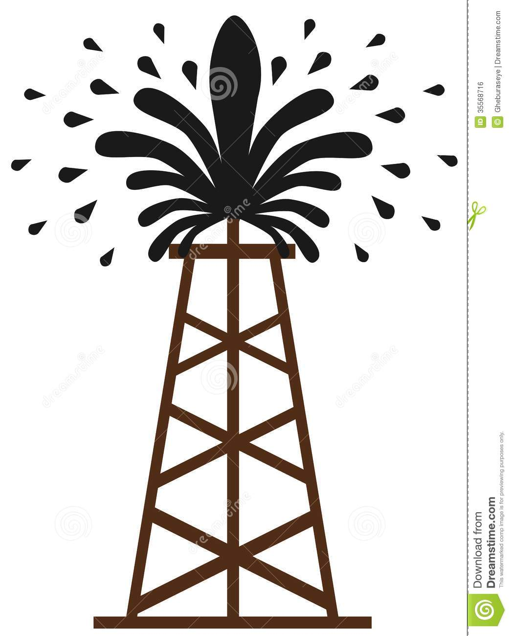 Oil Well Gusher Clipart.