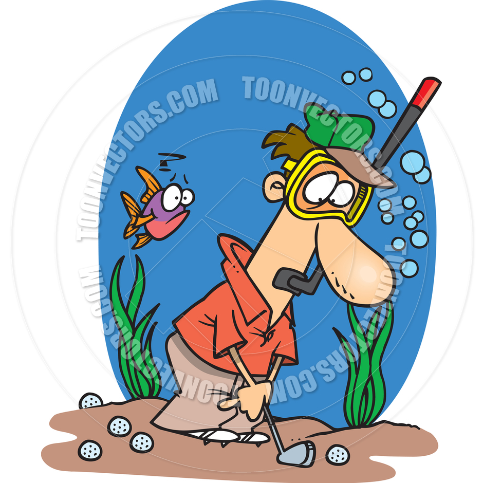 Cartoon Golf Water Hazard by Ron Leishman.
