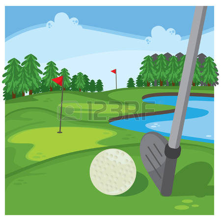 Floating golf ball water hazard clipart free.