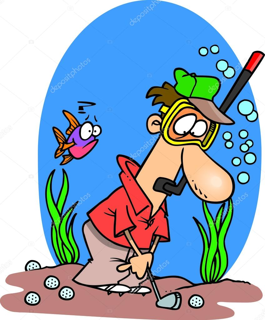 Cartoon Golf Water Hazard — Stock Vector © ronleishman #13917355.