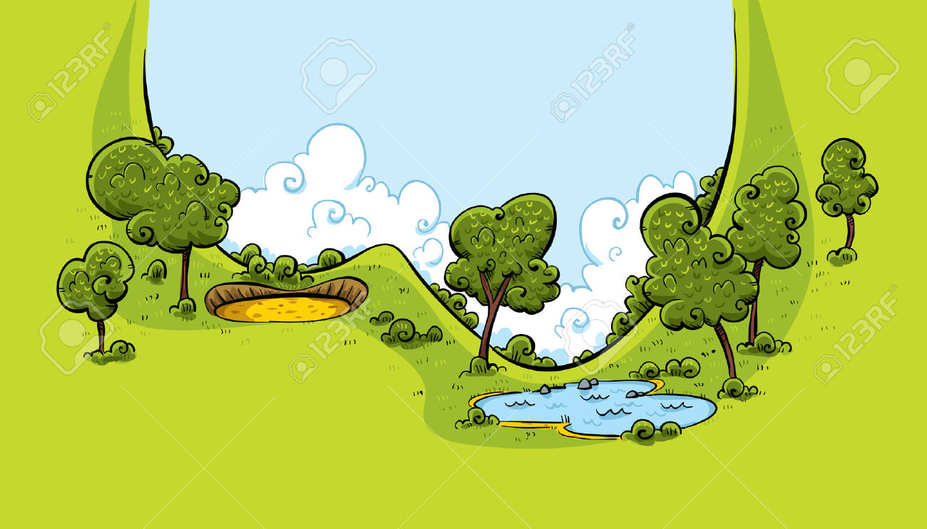 Water hazard clipart.