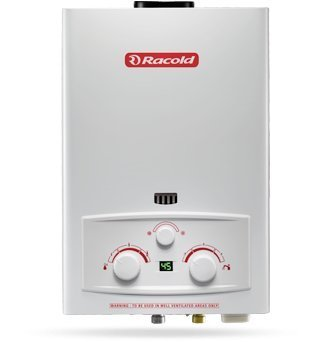 Racold PNG Gas Water heater with LED Temperature Display (White).