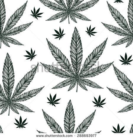 Hemp Cannabis Leaf Vintage Linear Style Stock Vector 288690386.