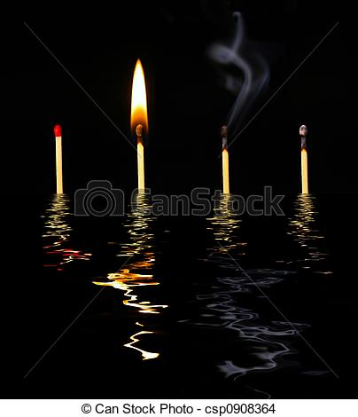 Stock Photo of Match History in water.