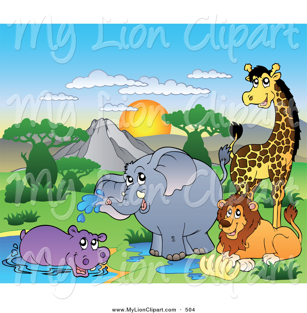 Royalty Free Stock Lion Designs of African Animals.