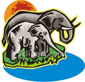 Watering hole clipart #4