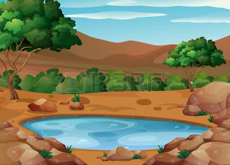 125 Waterhole Stock Vector Illustration And Royalty Free Waterhole.