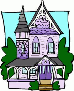 one dimensional houses clipart.