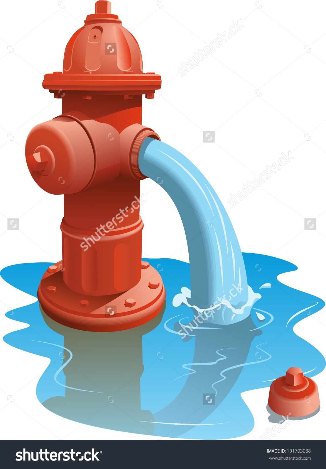 Water hydrant clipart.