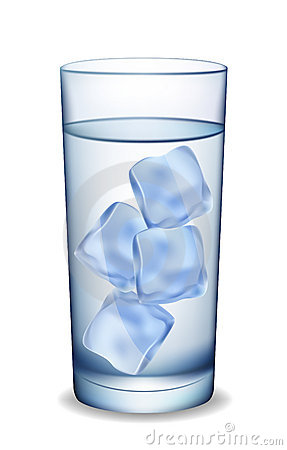 Ice Glass of Water Clip Art.