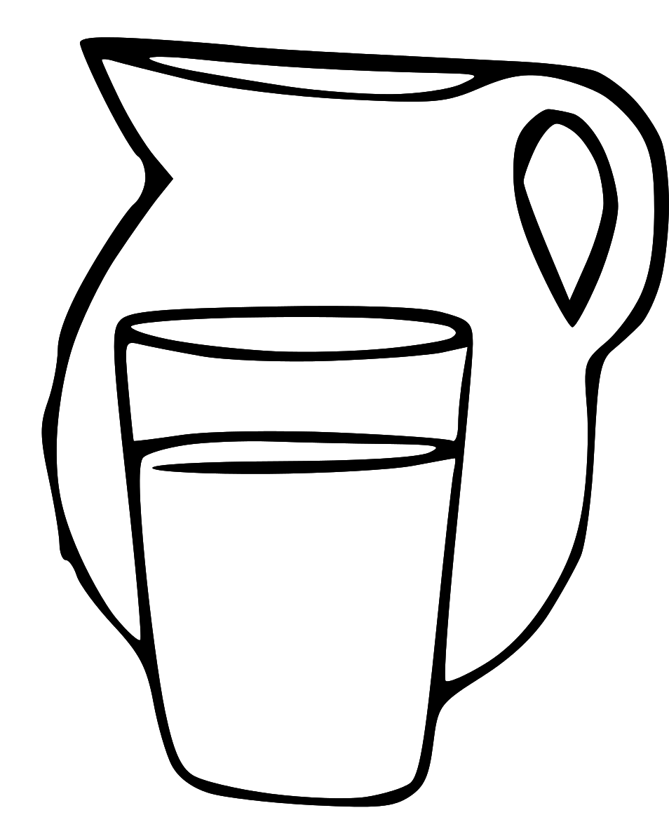 Milk Jug Clipart Regular Jug Clipart Black And.