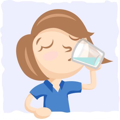 Drink Plenty Of Water Clipart.
