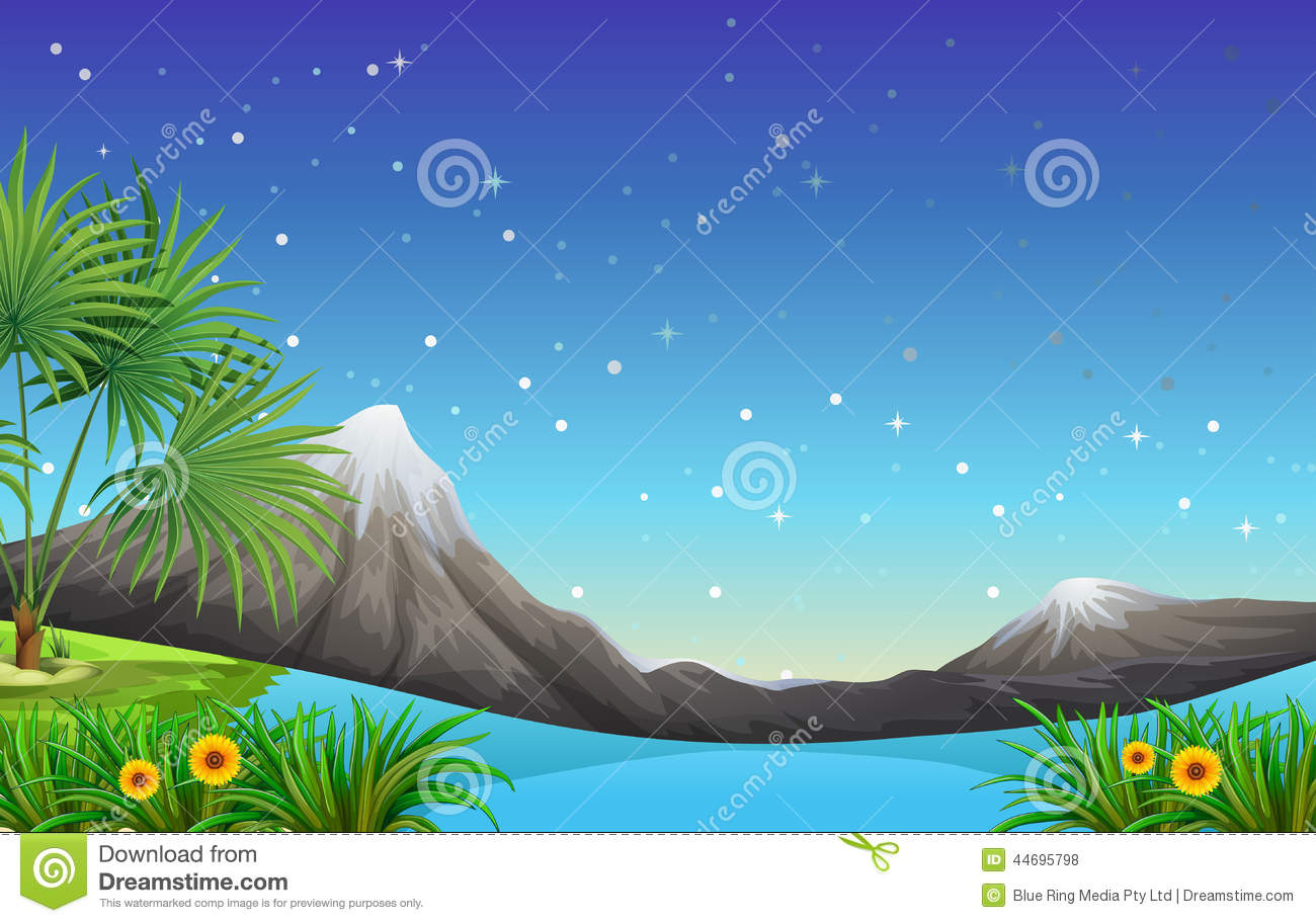 Land And Water Resources Stock Vector.