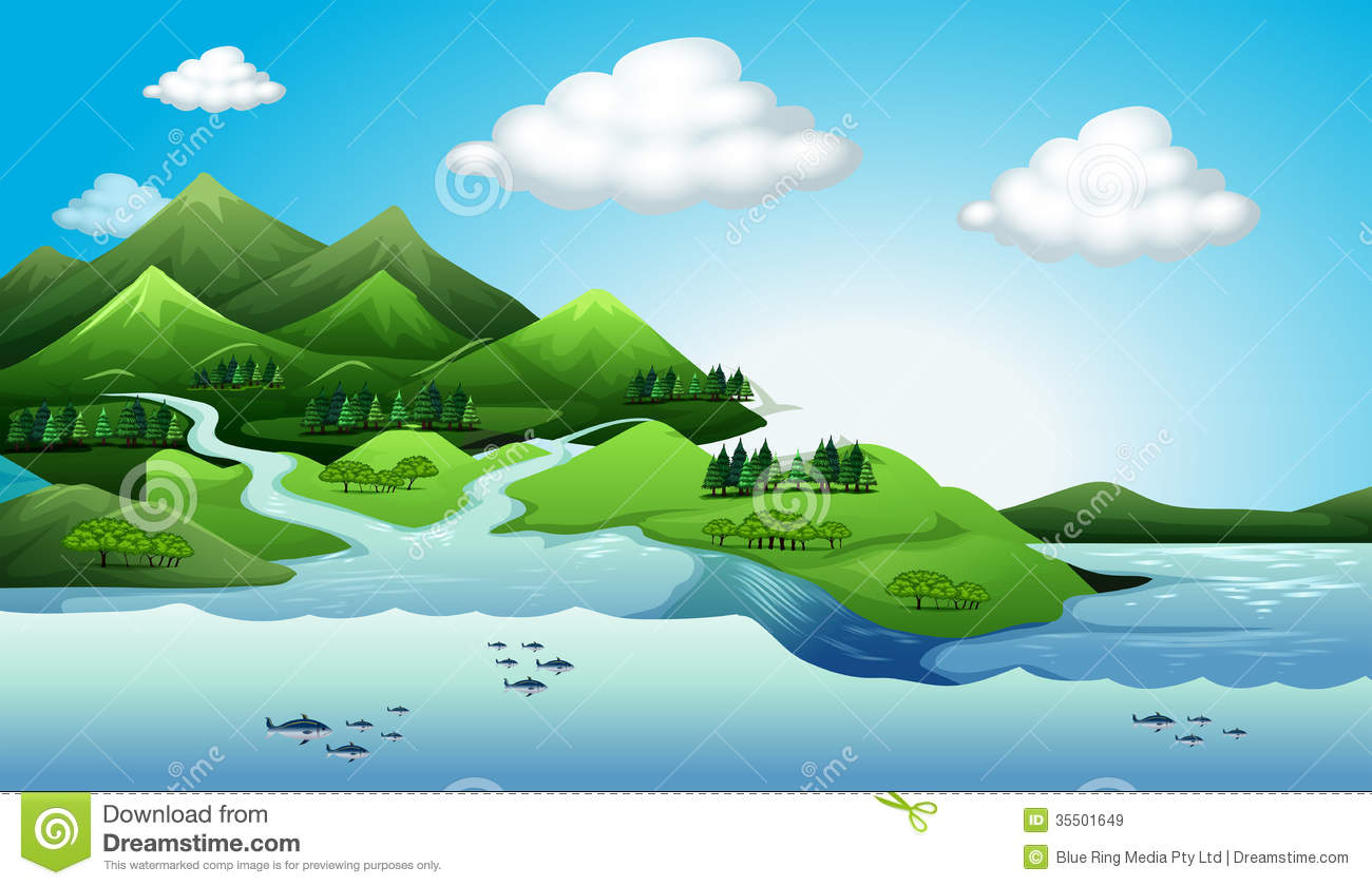 Water land clipart - Clipground