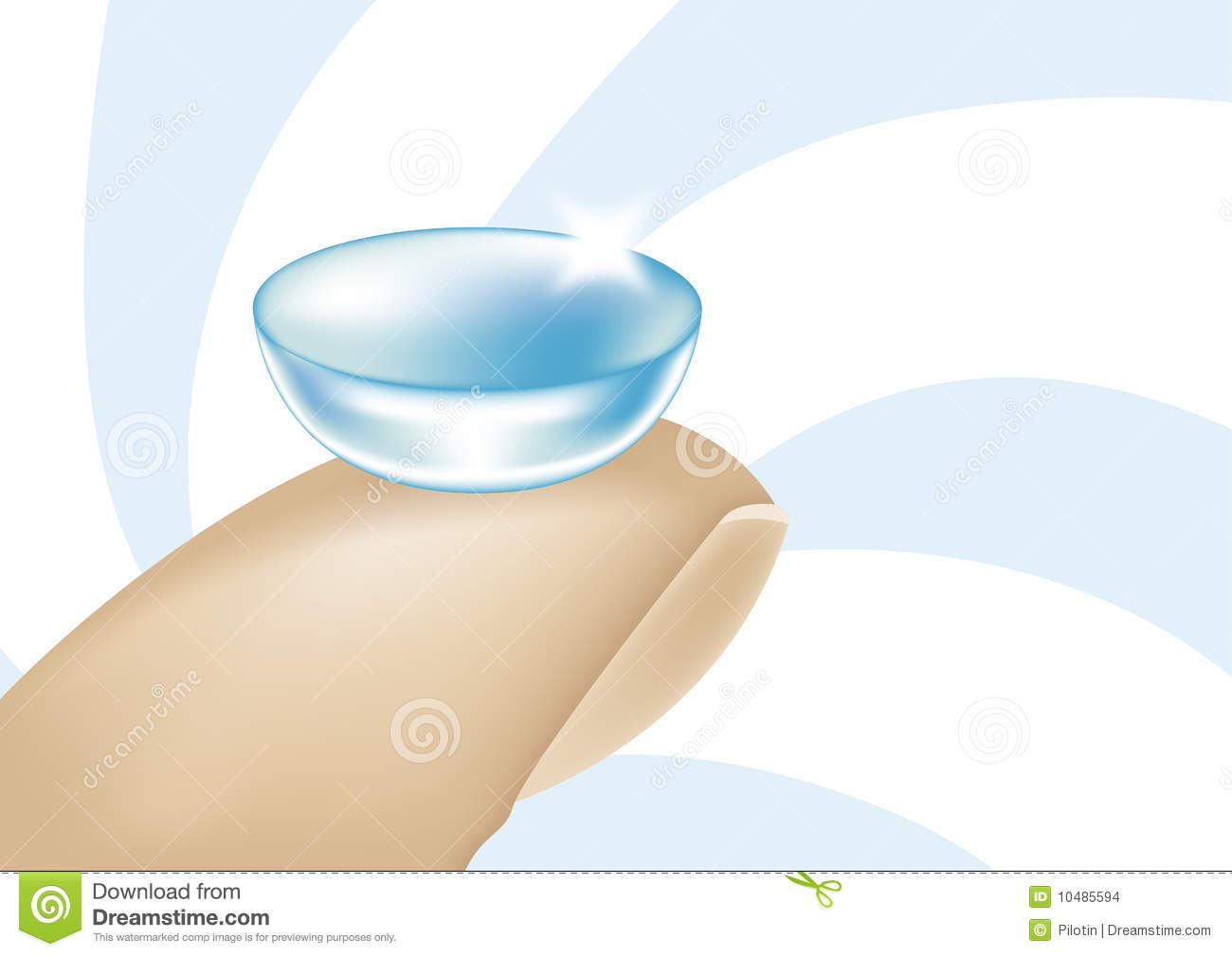 Contact Lens Stock Images.