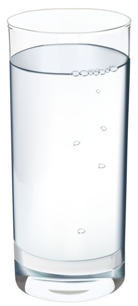 Glass of Water PNG Vector Clipart Image.