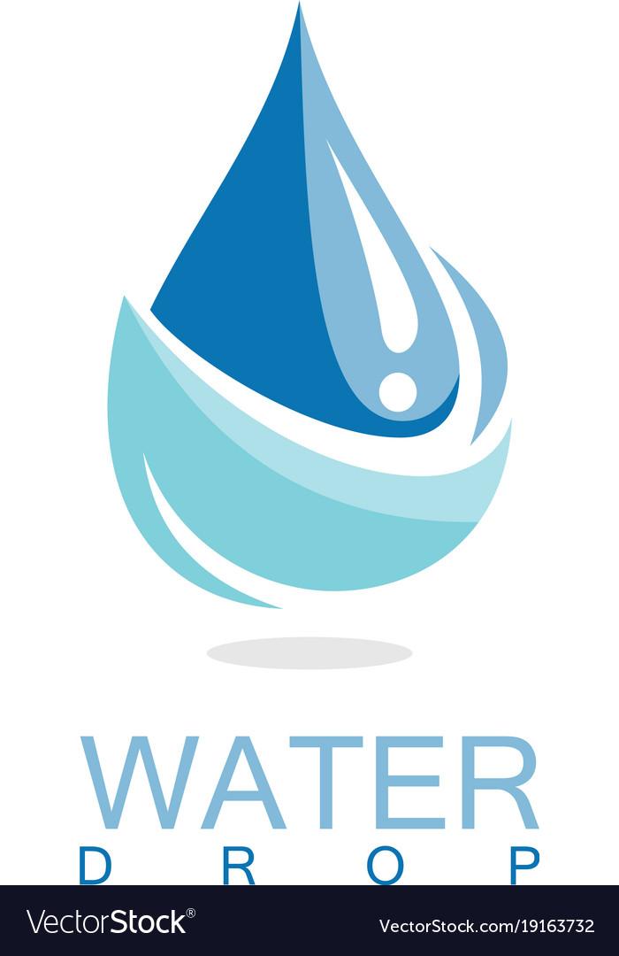 Drop water logo.