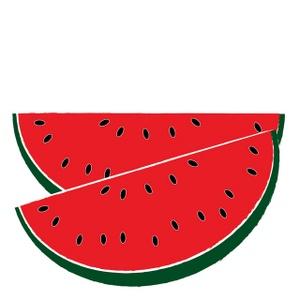 Watermelon Clip Art Border.