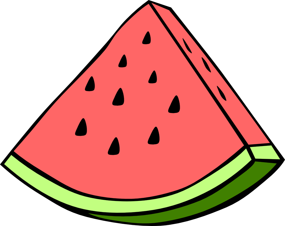 Clipart of a watermelon.