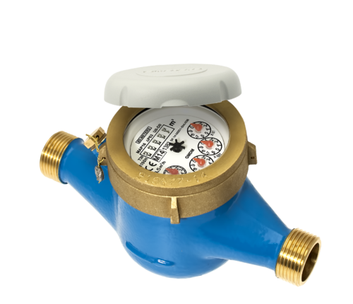 Brass Multi Jet Water Meter.
