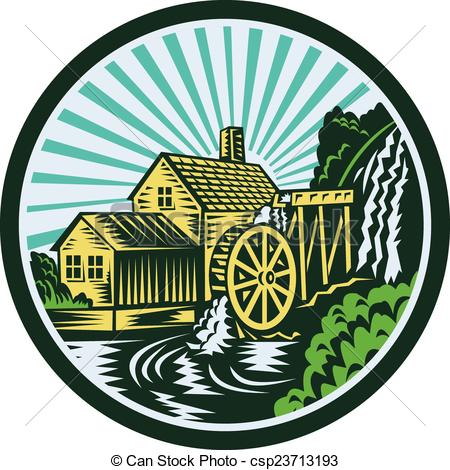 Watermill Illustrations and Stock Art. 76 Watermill illustration.