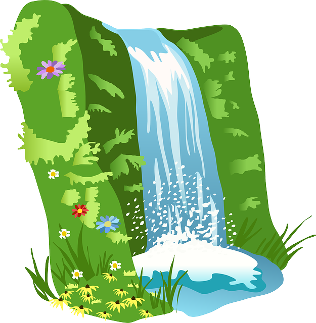 Free vector graphic: Waterfall, Water, Nature, Landscape.