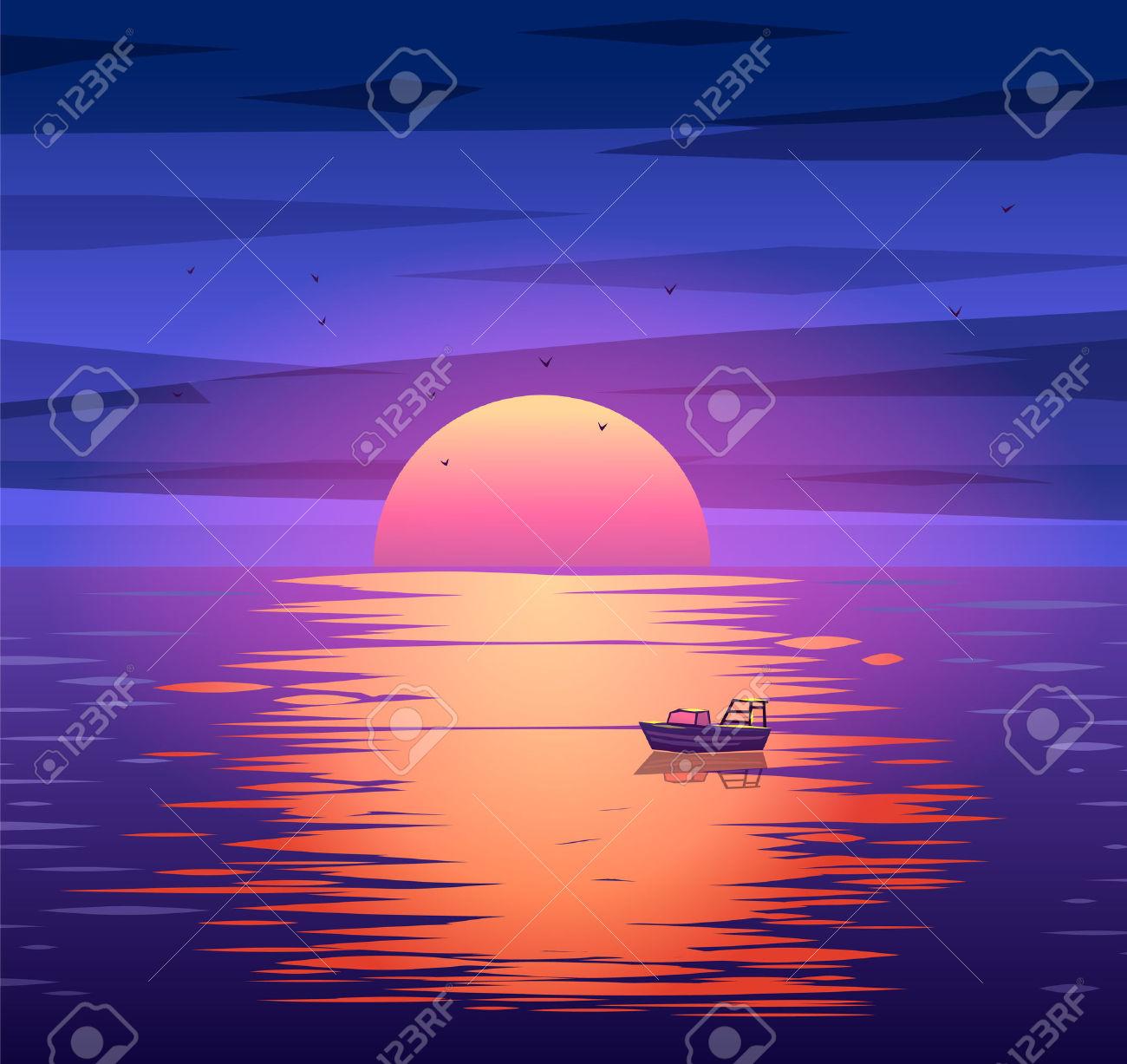 Evening Horizon Clip Art.
