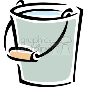 water bucket clipart. Royalty.