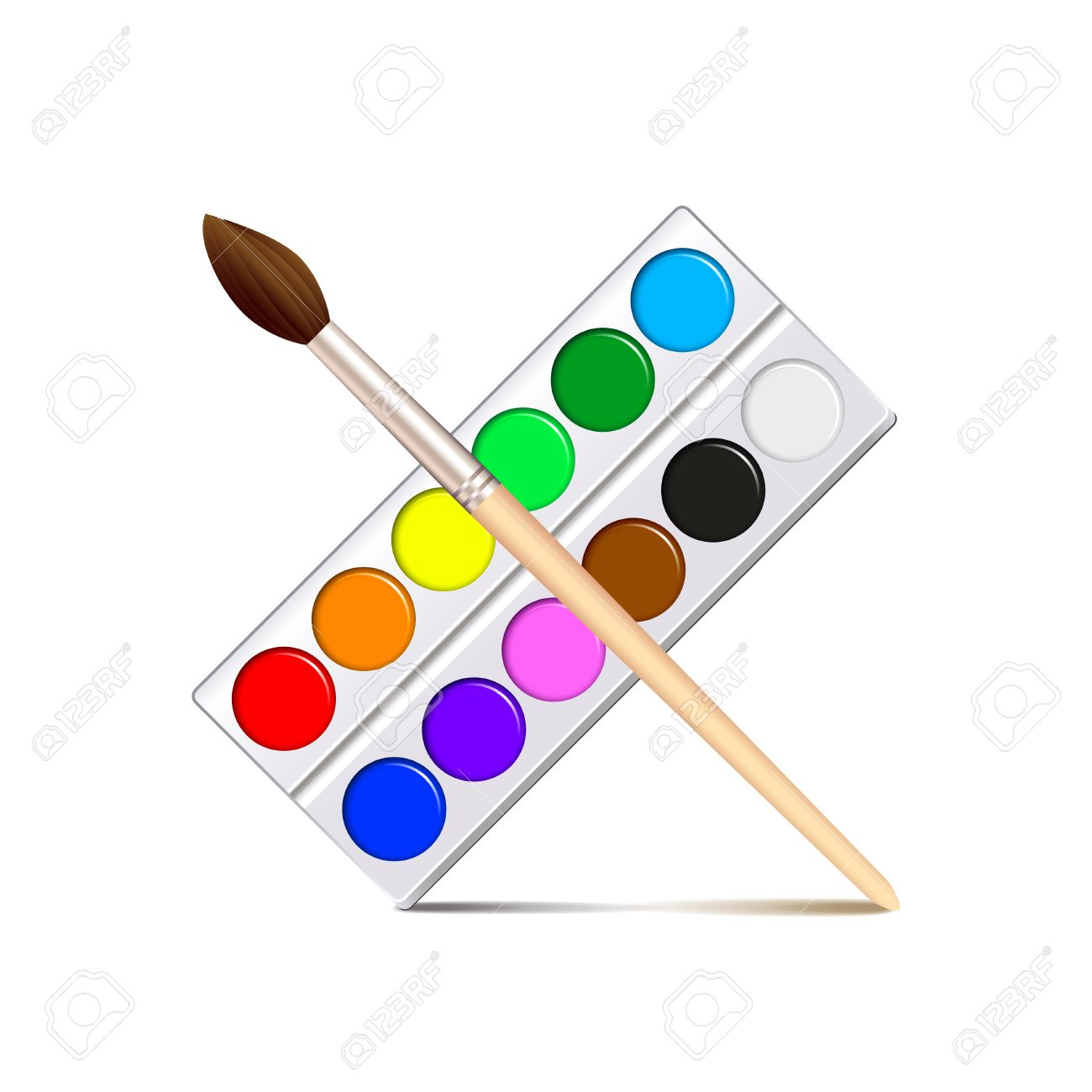 Watercolor Painting Clipart.