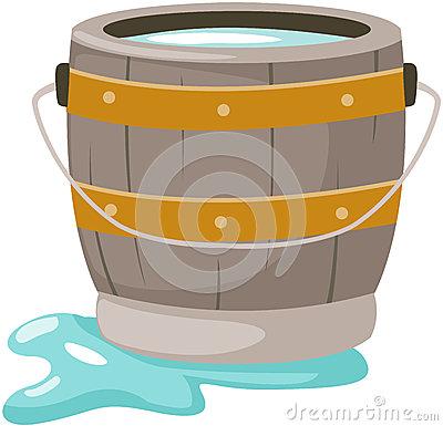 Retro Cartoon Water Barrel Stock Photos.