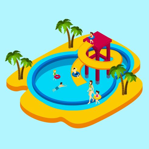 Water Park Illustration.