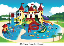 Water park Clipart Vector Graphics. 3,662 Water park EPS clip art.