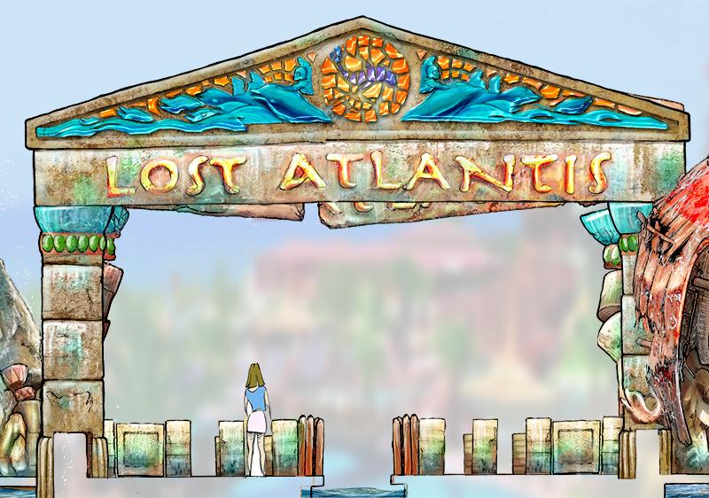 Amusement Park Entrance Clipart.
