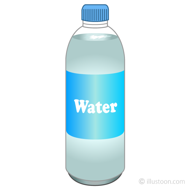 Free Water Bottle Clipart Image|Illustoon.