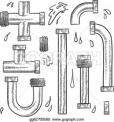 Water Pipes Clip Art.