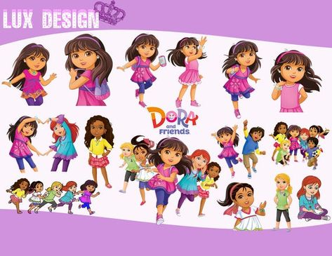 128 Dora Of Explorer and friends ClipArt.